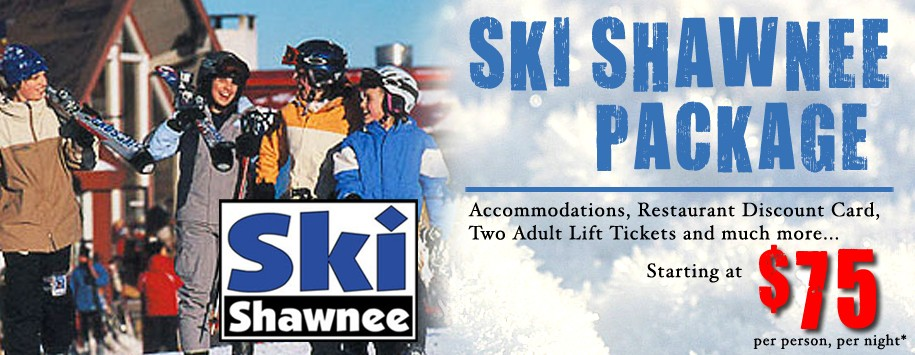Ski  & Stay Shawnee Package Ad Banner